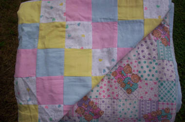 Single-sized Girl's Quilt by WhiteFoxKitsune