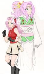 Sakura colorwork by Heartless-iPod-Ninja
