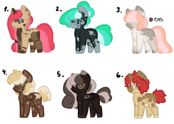 Tiny Ponies 6 (CLOSED) by Rainbows-Lover