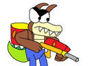 Angry Dingodile by Blackrhinoranger