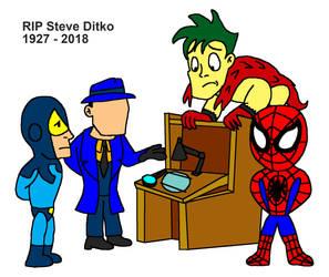 In memory of Steve Ditko by Blackrhinoranger