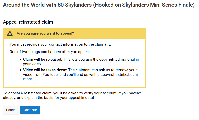 Appeal reinstated claim by Blackrhinoranger
