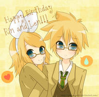 Happy Birthday Rin and Len by giannysuki