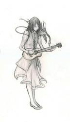 Menolly Playing Gitar by Maseiya