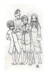The Gaang -sketch- by Maseiya