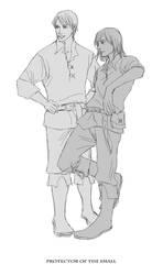 Kel and Dom sketch by Maseiya