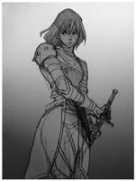 Kel Sheaths Her Sword by Maseiya