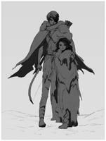 Katsa and Bitterblue by Maseiya