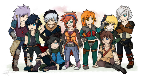 Meet the Gang by KeruriDerago