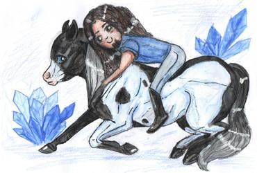 Blue crystals - Happy birthday! by Bleskobleska-Yandere
