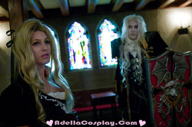 Maria and Alucard by Adella