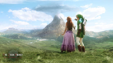 TZP: Link and Malon observe Death Mountain by Adella