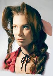 Aerith Gainsborough Cosplay Portrait by Adella