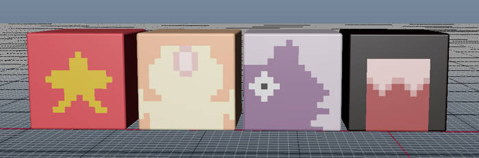 SU textured cubes (Maya) by RukarioTrainer