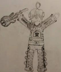 Hollywood Rip Ride Rockit coaster gajinka sketch by RukarioTrainer