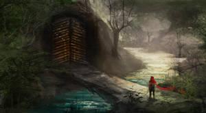 Door in the Woods by chanmeleon