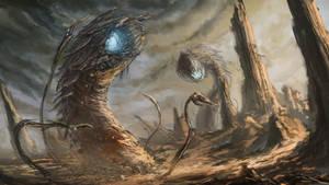 Desert Worms by chanmeleon