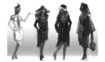 Female Flapper Alien design-Costume by chanmeleon