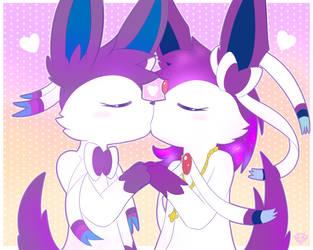 (Comm) Attract Kiss by StarlightNexus-Chan