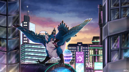 Commission: City joy by N6ndGryph