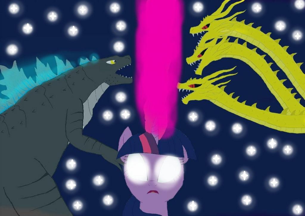 godzilla my little pony the monster king by lazejovanov on deviantart
