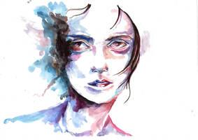 Abstract Watercolour 3 (scanned) by tsukiko-kiyomidzu