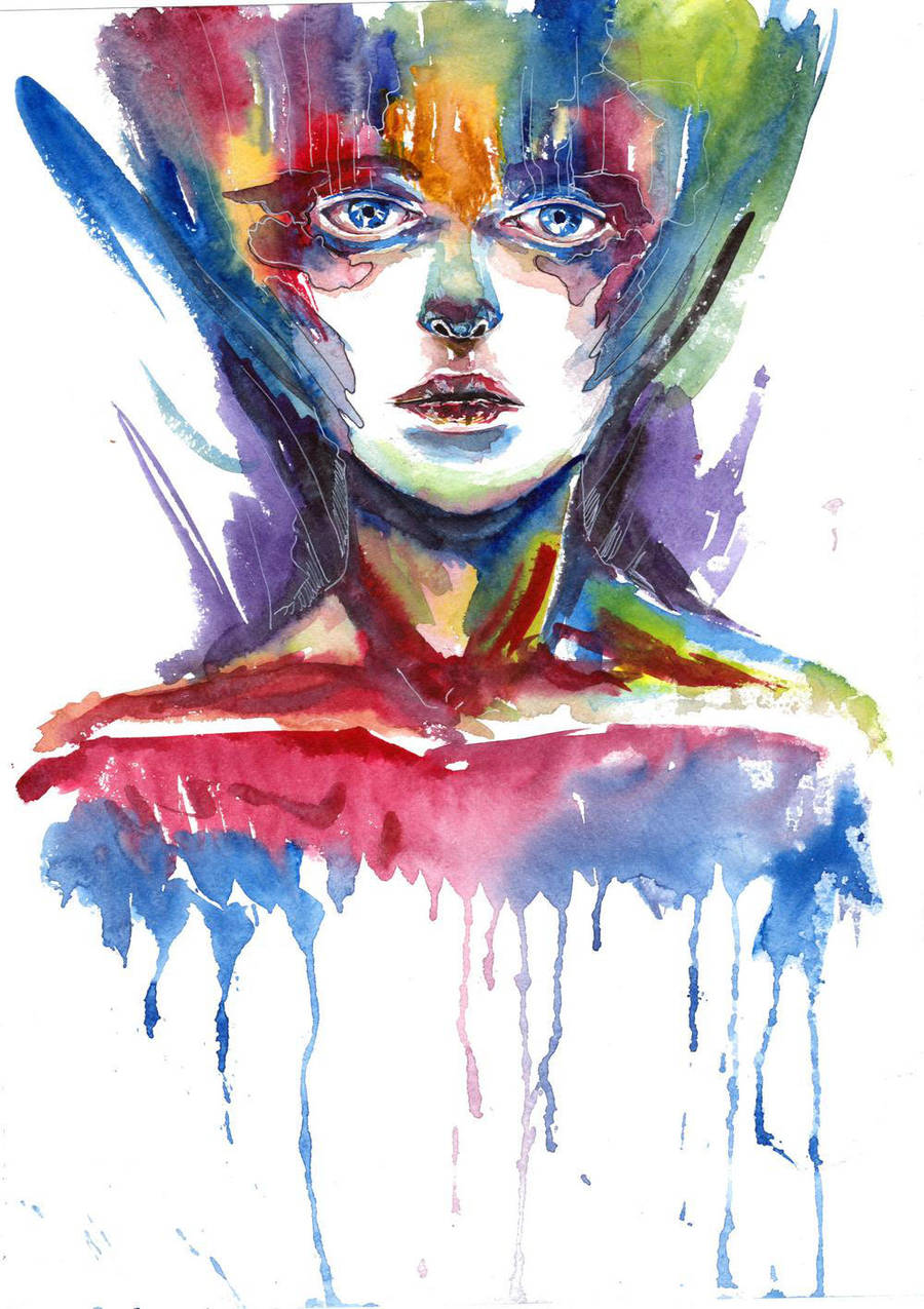 Abstract Watercolour 11 (scanned) by tsukiko-kiyomidzu