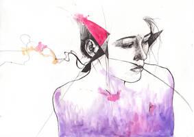 Contemplation (sketch) by tsukiko-kiyomidzu