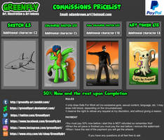 Commissions List! by GreenflyArt