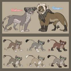 OTA Lion Family Adopts - OPEN!! by Oxymoronic-Adopts