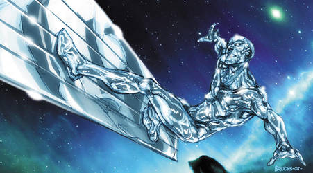 Silver Surfer warm-up by diablo2003