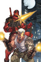 Deadpool-Cable promo piece by diablo2003