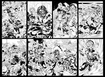 Ultimate X-Men spreads by diablo2003