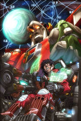 Voltron number 1 cover by diablo2003