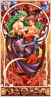 Darkstalkers Tribute piece by diablo2003