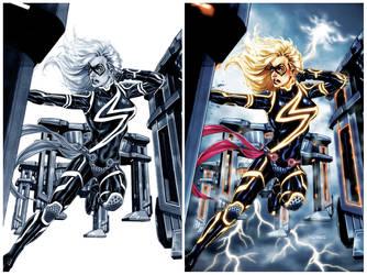 Ms.Marvel: TRON-ified by diablo2003