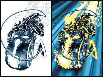 Ghost Rider- TRON-ified by diablo2003
