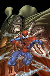 Spider-man doom cover by diablo2003
