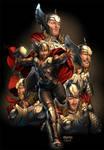 Thor art for Sega by diablo2003
