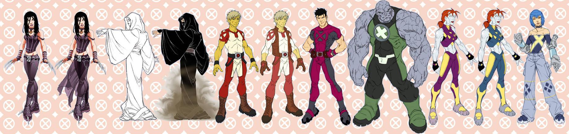 New X-Men Designs by diablo2003