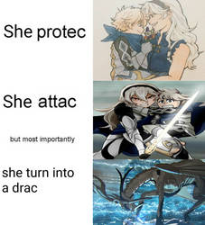Corrin protecc but she also attacc by Speedythekitty