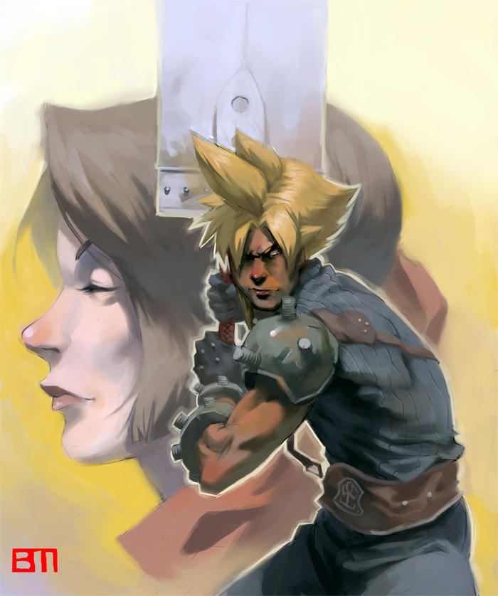cloud+aerith by bigmac996