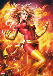 Dark Phoenix Sideshow Print by bigmac996