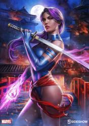 Psylocke Print Sideshow by bigmac996