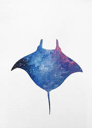 Manta Ray Acrylic by JacksonGiv