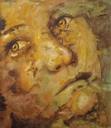 Sad Eyes by paintedmonke
