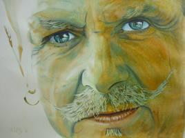 Moustache by paintedmonke