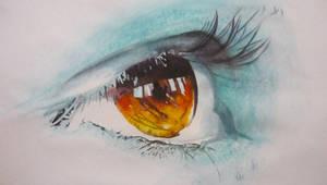 Eye of Fire by paintedmonke
