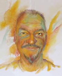 Selfportret Light by paintedmonke