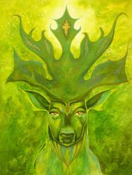 King's Deer by paintedmonke